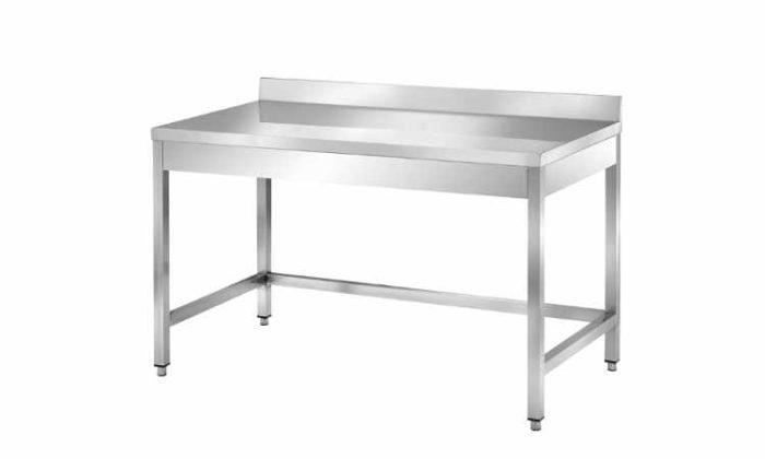 Tavolo con cornice su tre lati con alzatina, profondità 700