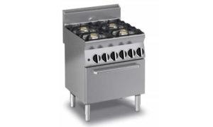 ECG64ES, cucina gas 4 fuochi, forno elettrico statico