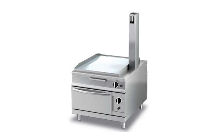 EBGP4ELL, Fry Top gas con forno passante elettrico