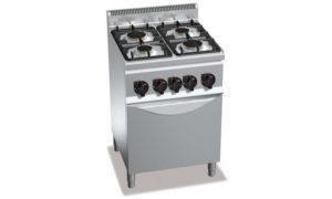 G6F4+FG1, cucina a gas 4 fuochi su forno a gas 1/1