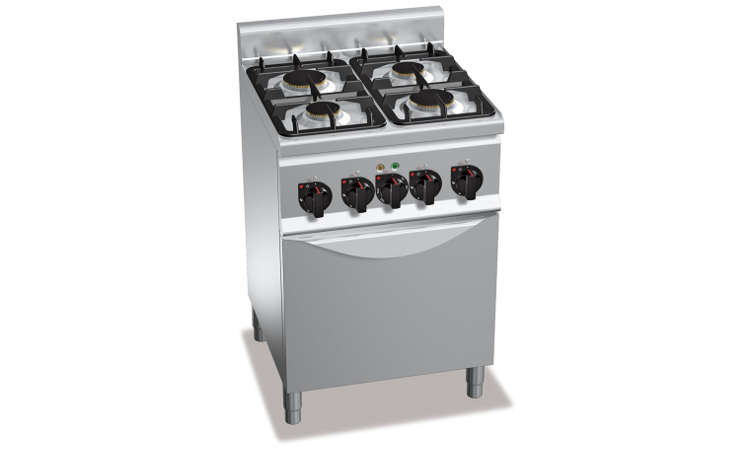 G6F4M, cucina a gas 4 fuochi su vano