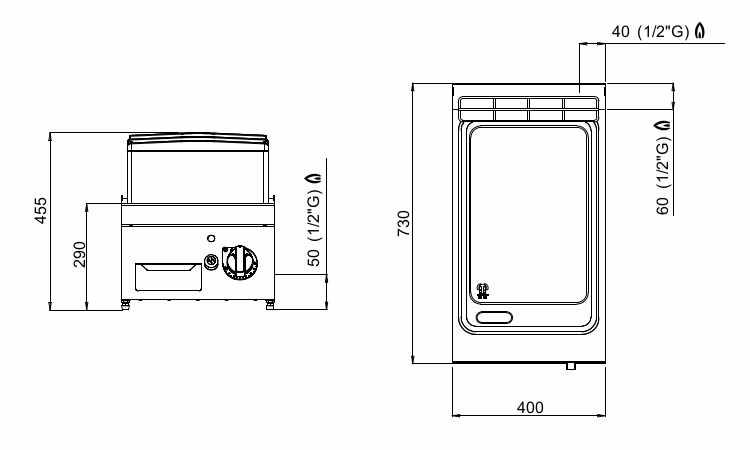 SG7FL4B/CPD, fry top a gas liscio