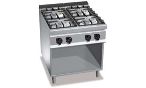 G9F4MPW, cucina a gas 4 fuochi su vano