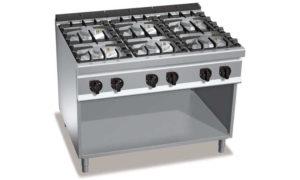 G9F6MPW, cucina a gas 6 fuochi su vano