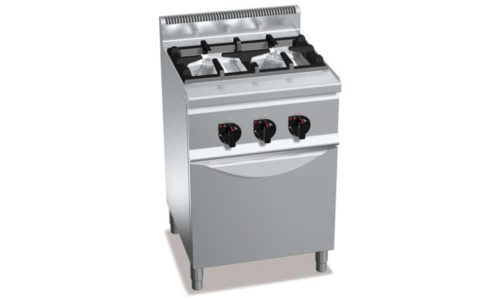 G6F2H6+FG1, cucina a gas 2 fuochi su forno a gas 1/1