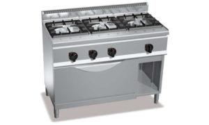 G6F3H12+T, cucina a gas 3 fuochi su tuttoforno a gas