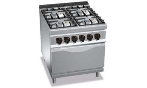 G9F4PW+FE, cucina a gas 4 fuochi su forno el. 2/1