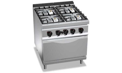 G9F4PW+FG, cucina a gas 4 fuochi su forno a gas 2/1