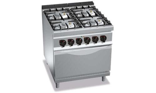 G9F4PW+FG1, cucina a gas 4 fuochi su forno a gas