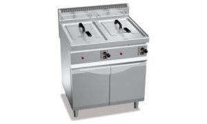 GL10+10M, friggitrici a gas 10+10 l su vano