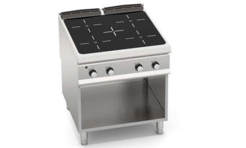 SE9P4MP/VTR, cucina con top infrarosso 4 zone su vano