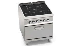 SE9P4P/VTR+FE, cucina con top infrarosso 4 zone + forno elettrico 2/1