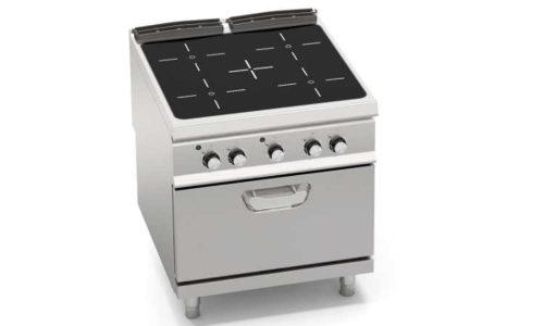 SE9P4P/VTR+FE2, cucina con top infrarosso 4 zone + forno elettrico 1/1