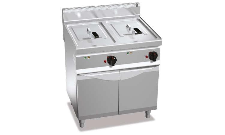E7F10-8M, friggitrice elettrica 10+10 l su vano