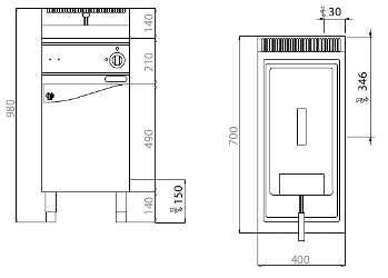 E7F18-4MEL, friggitrice elettrica 18 l con comandi elettronici