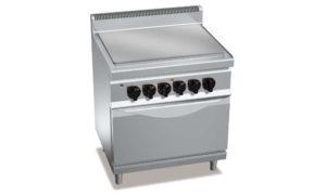 E7TP+FE, tuttapiastra elettrico + forno el. 2/1