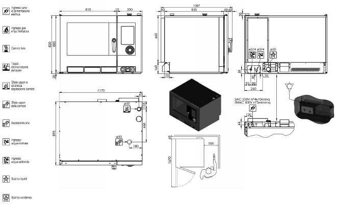 NAEV072R, forno a convenzione 7 X 2/1 GN - 14 X 1/1 GN