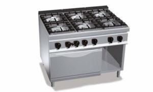 G9F6+FE, cucina a gas 6 fuochi su forno el. 2/1