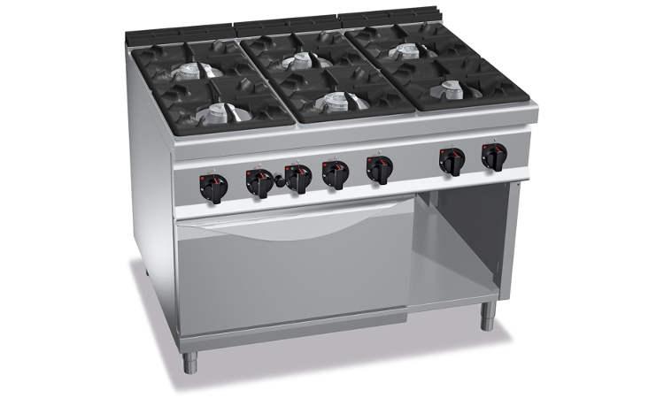 G9F6+FG, cucina a gas 6 fuochi su forno a gas 2/1