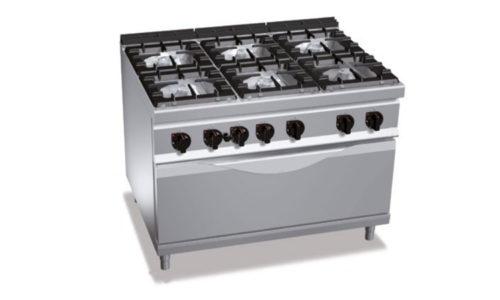G9F6+T, cucina a gas 6 fuochi su tuttoforno a gas