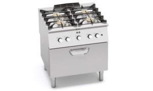 SG7F4+FE2, cucina a gas 4 fuochi su forno el. 1/1 gn