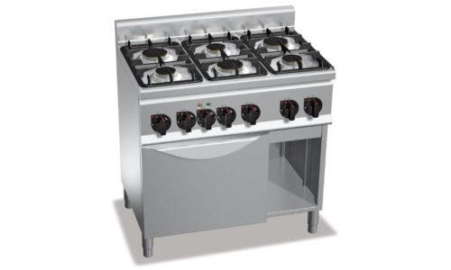G6F6+FE1, cucina a gas 6 fuochi su forno el. 1/1