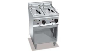 E6F10-6MS, friggitrice elettrica 10 + 10 l su vano