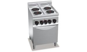 E6P4+FE1, cucina elettrica 4 piastre tonde + forno elettrico 1/1