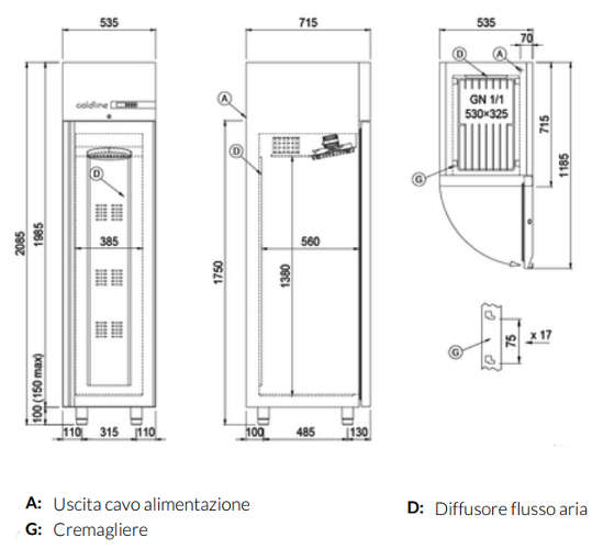 A30/1B, Freezer armadiato Smart 350 lt