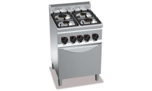 G6F4+FE1, cucina a gas 4 fuochi su forno el. 1/1