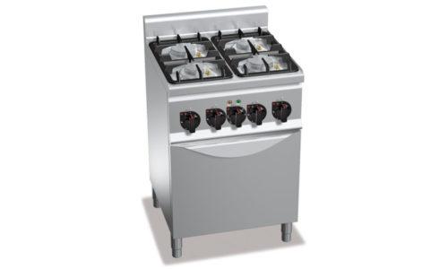 G6F4PW+FE1, cucina a gas 4 fuochi su forno el. 1/1