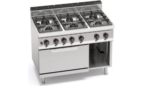 G7F6+FE, cucina a gas 6 fuochi su forno elettrico 2/1 gn