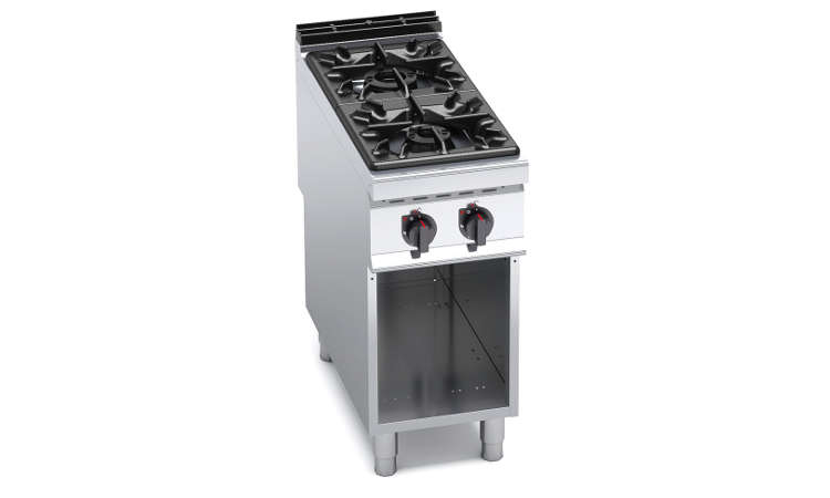G9F2M, cucina a gas 2 fuochi su vano