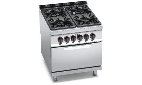 G9F4+FE, cucina a gas 4 fuochi su forno el. 2/1