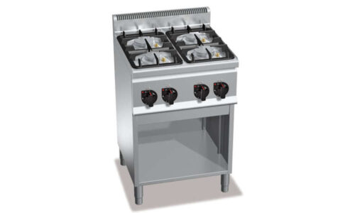 G6F4MPW, cucina a gas 4 fuochi su vano