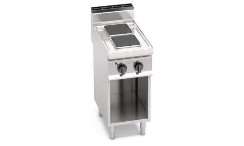 E7PQ2M, cucina elettrica 2 piastre quadre su vano