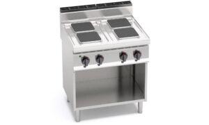 E7PQ4M, cucina elettrica 4 piastre quadre su vano