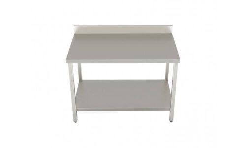 Tavolo con ripiano e alzatina, dimensioni 1200*700